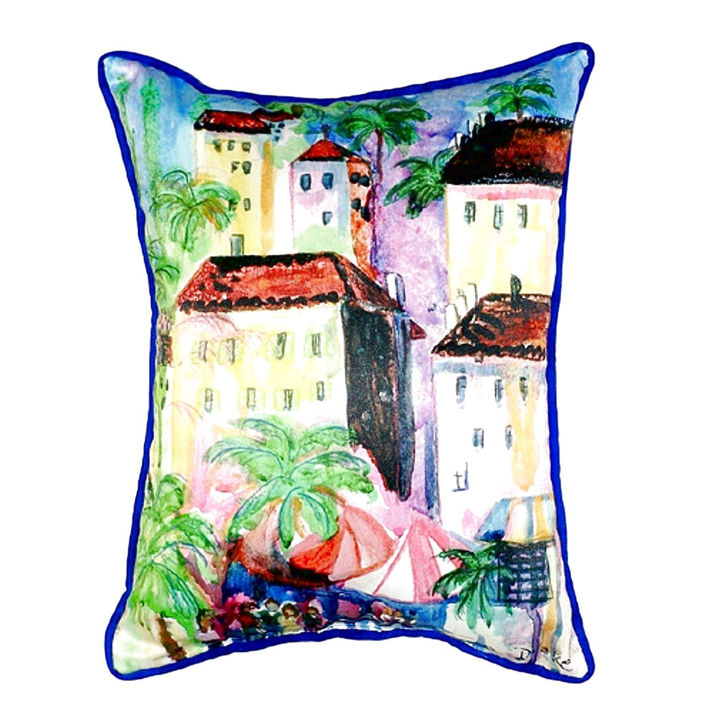 Fun City I Extra Large Zippered Indoor or Outdoor Pillow 20x24