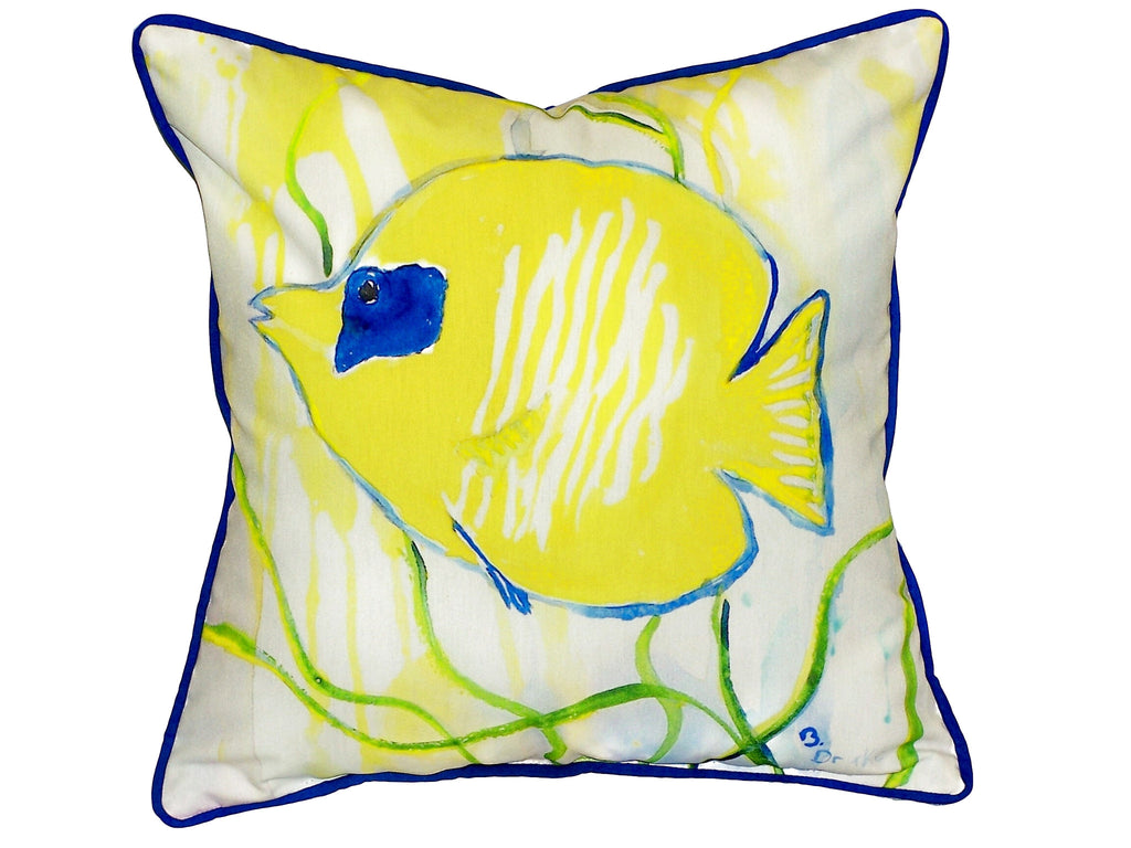 Yellow Tang Extra Large Zippered Indoor or Outdoor Pillow 22x22