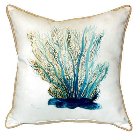 Blue Coral Extra Large Zippered Indoor or Outdoor Pillow 22x22
