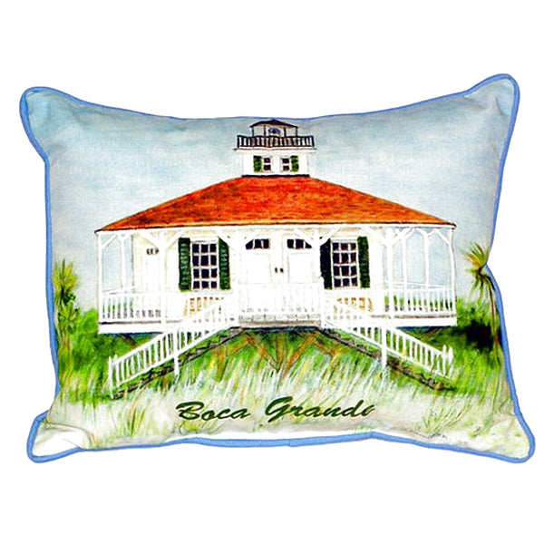 Boca Grande Lighthouse Extra Large Zippered Indoor or Outdoor Pillow  20x24