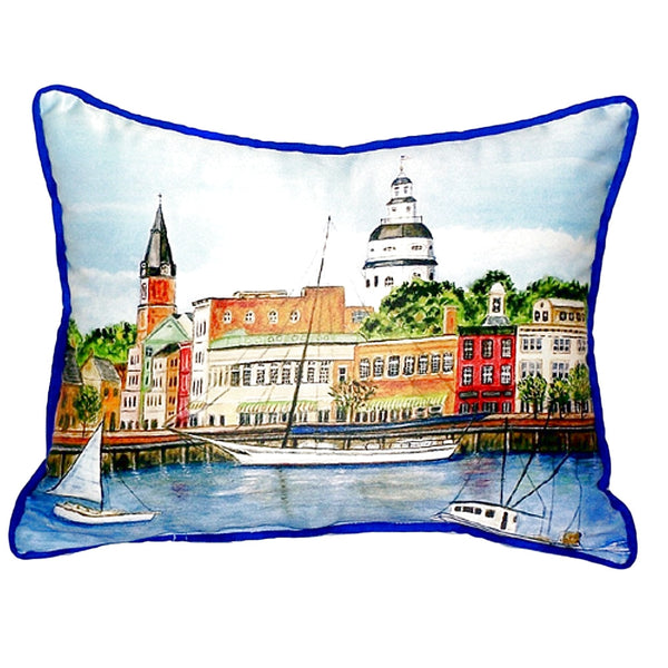 Annapolis City Dock Extra Large Zippered Indoor or Outdoor Pillow 20x24