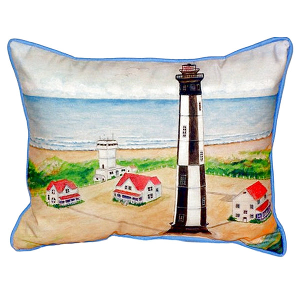 Cape Henry Lighthouse Extra Large Zippered Indoor or Outdoor Pillow  20x24