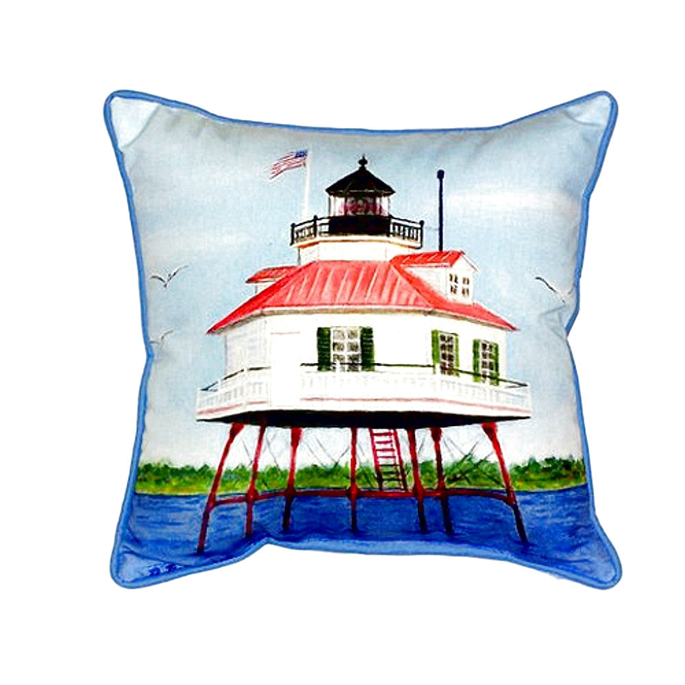 Drum Point Lighthouse Extra Large Zippered Indoor or Outdoor Pillow 22x22