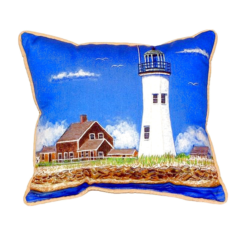 Scituate MA Lighthouse Extra Large Zippered Indoor or Outdoor Pillow 20x24
