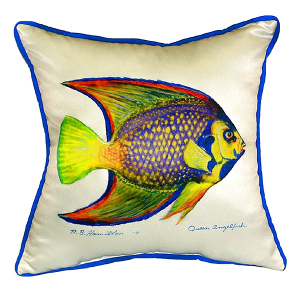 Queen Angelfish Extra Large Zippered Indoor or Outdoor Pillow 22x22