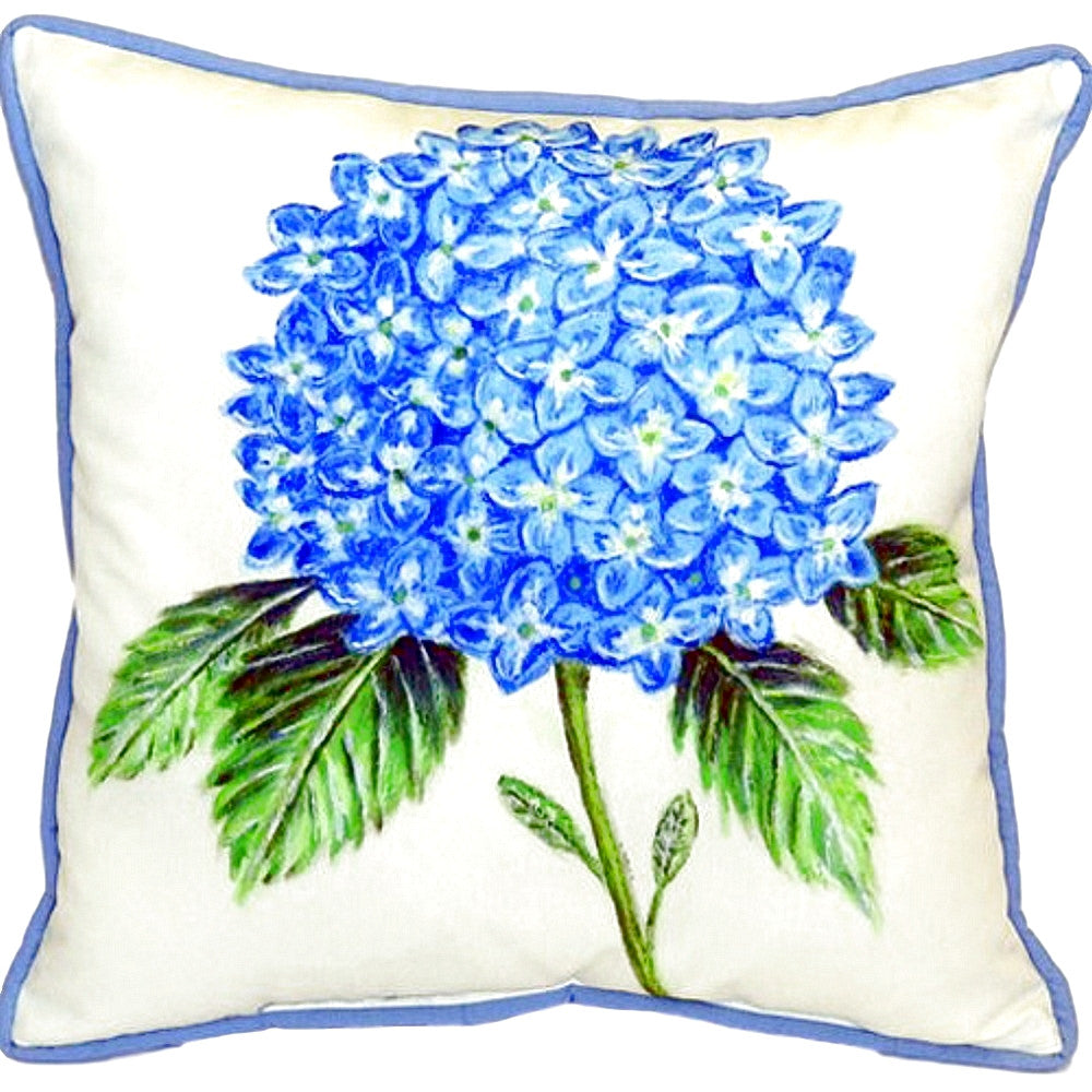 Hydrangea Extra Large Zippered Indoor or Outdoor Pillow 22x22