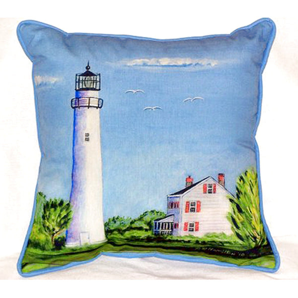 Fenwick Island Light House Extra Large Zippered Indoor or Outdoor Pillow 22x22