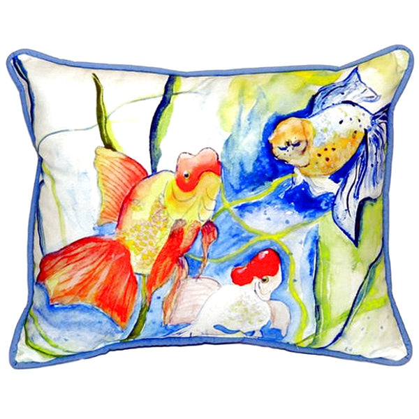 Fantails Extra Large Zippered Indoor or Outdoor Pillow 20x24