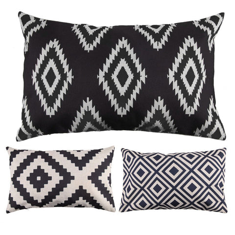 Diamond Pattern Rectangle Pillow Cases