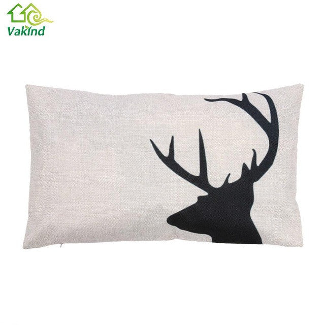 Deer Silhouette Rectangle Pillow Cases