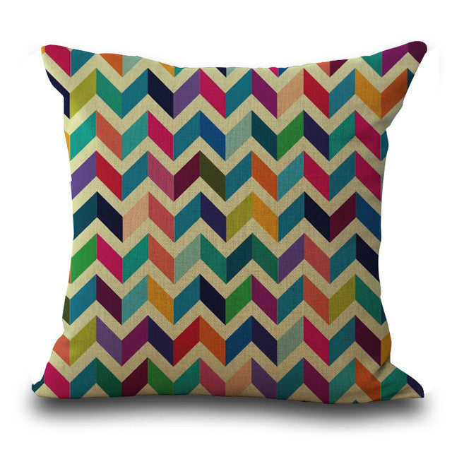 Colorful Geometry Pillow Case