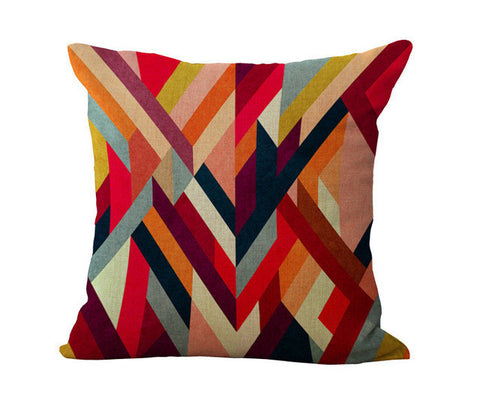 Abstract Geometric Lines Pillow Cases