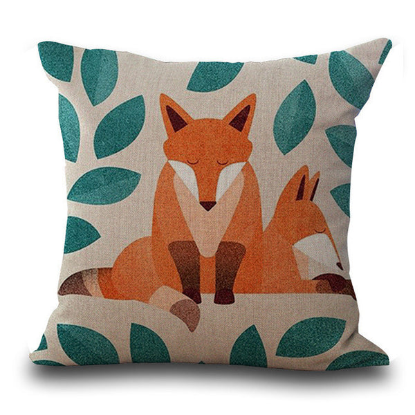 Fox Printing Pillow Cases