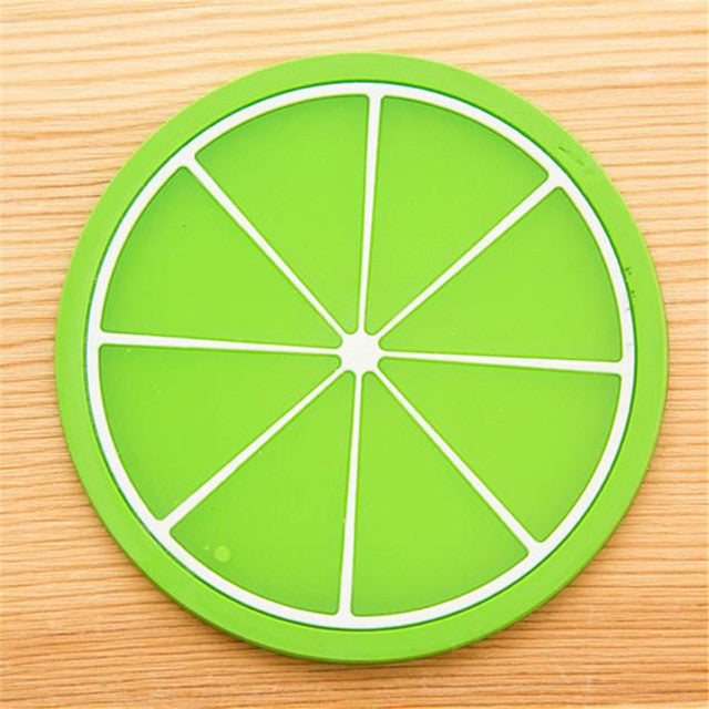 Cute Fruit Themed Nonslip Silicon Coaster for Cups and Glasses