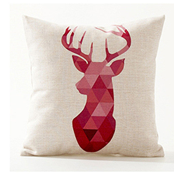 Colorful Flamenco Deer and Geometric Inspired Pillow Cases