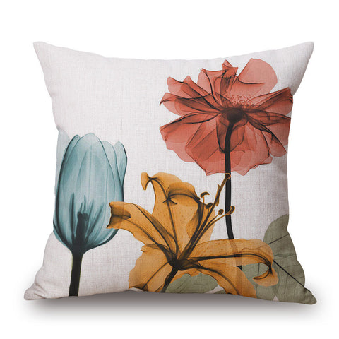 Floral Painting Themed Pillow Covers