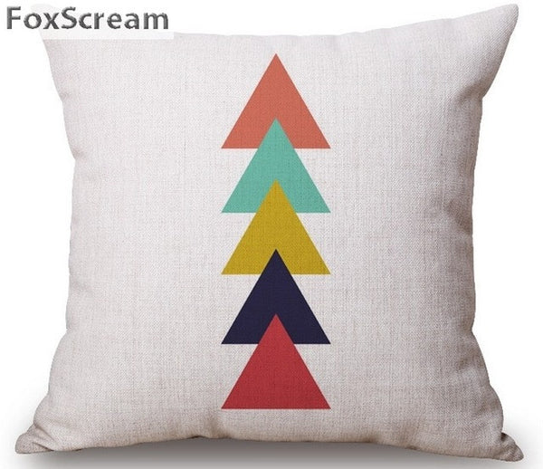 Colorful Moose Parrot and Palm Tree inspired Linen Pillow Case