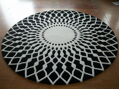Luxurious Round Hand Made 100% Wool Rug
