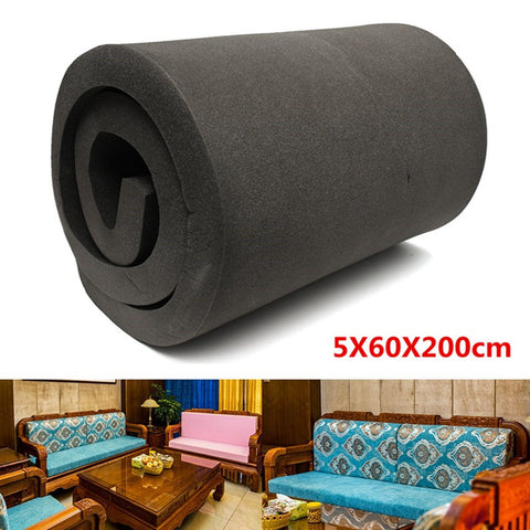 Black High Density Seat Upholstery Foam For Boat Seats and Benches