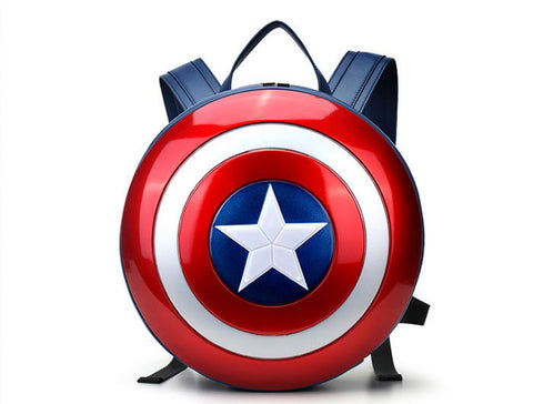 Bags : Captain America Shield Backpack Blue