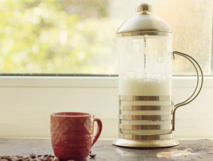 frothed milk french press