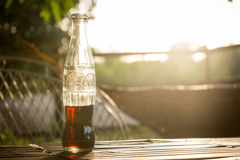cold brew coffee in a soda bottle
