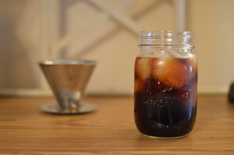 iced pour over coffee
