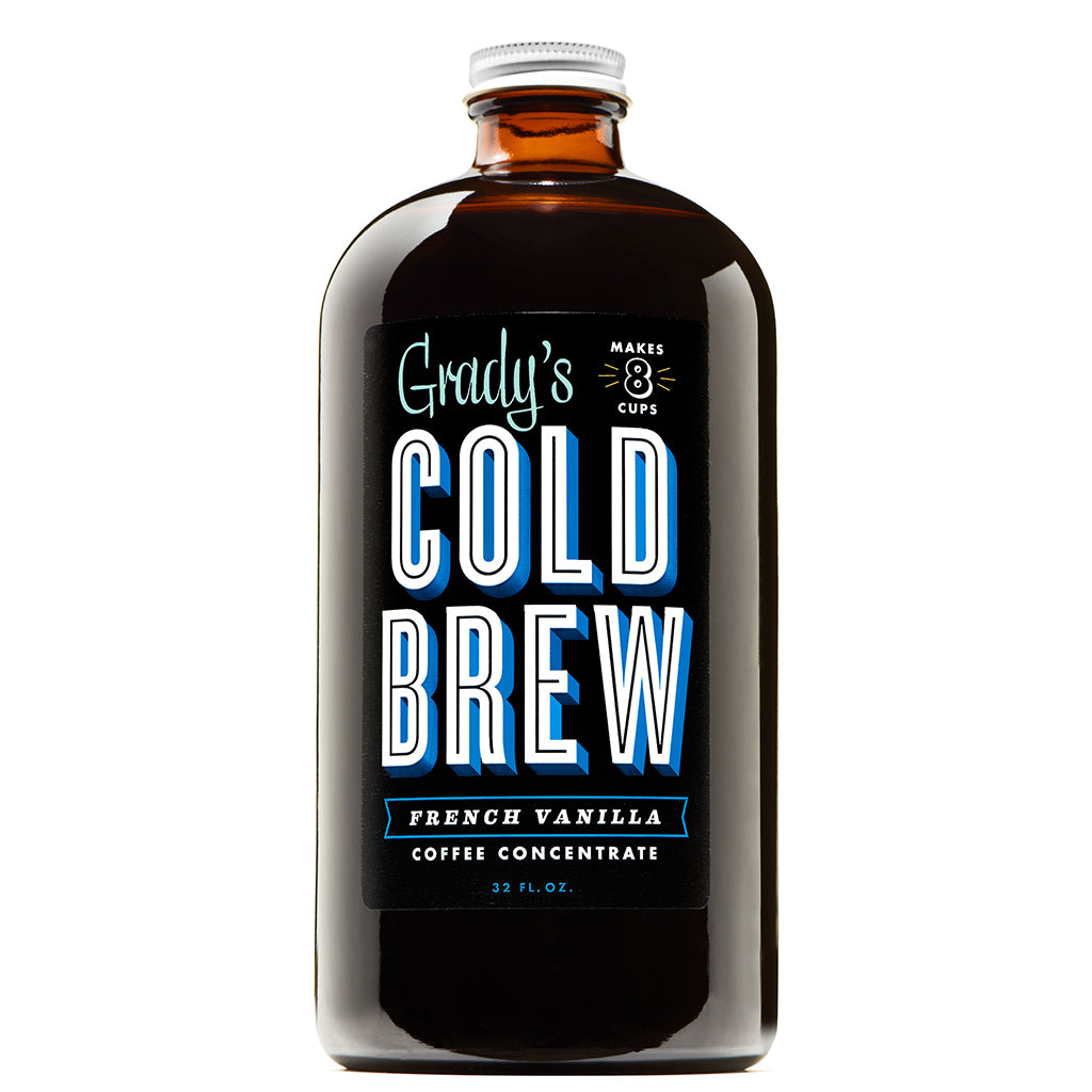 Cold Brew Coffee Concentrate 32oz French Vanilla (Case of ...
