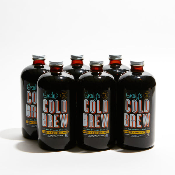 Cold Brew Coffee Concentrate 32oz French Vanilla (Case of 6) - Grady's Cold Brew