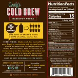 Cold Brew Coffee Concentrate 32oz Hazelnut Mocha (Case of 6) - Grady's Cold Brew