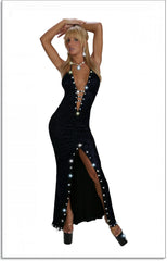 SEXY STRIPPER RHINESTONE  GOWN COLLECTION FROM LA KISS.COM