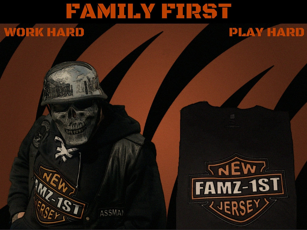 CHUBBY BRANDED APPAREL FAMZ1ST NEW JERSEY T/SHIRT BY LA KISS.COM - LA Kiss.com - 1