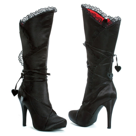 Stiletto Boot w/4 inch Heel Knee High Sexy Satin by LA Kiss.com