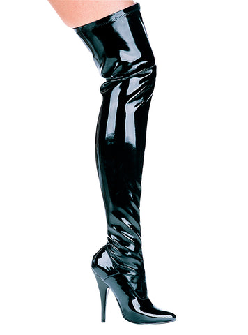 511ALLY Thigh High Single Sole Stretch Boot w/5 inch Stileeto Heel by LA Kiss.com