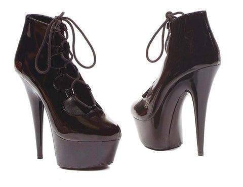 Ankle Boot Platform 6 inch Stiletto Heel Lace up Closed toe by LA Kiss.com