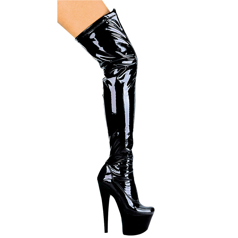 709 FANTASY Thigh High 6 inch Heel Platform Stretch Boots by LA Kiss.com