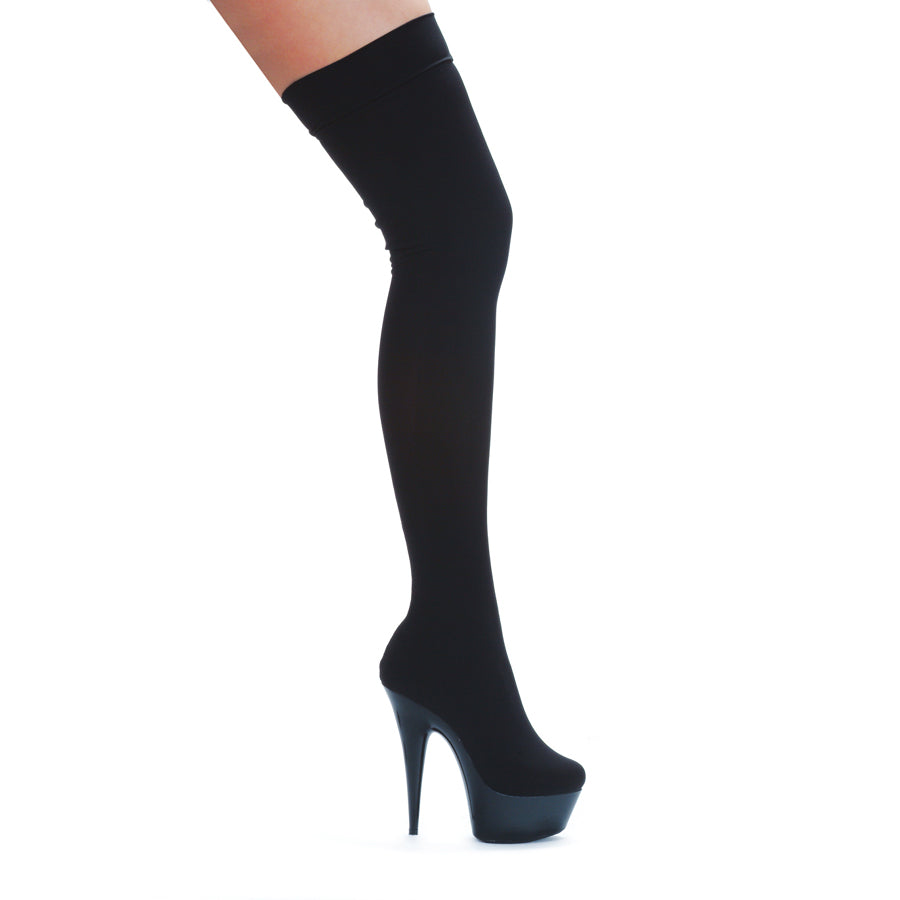 609SKI Thigh High Lycra Fashion Boots w/ inch Heel  by LA Kiss.com
