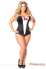 SEXY STEEL BONED TUXEDO CORSET FROM DAISY CORSETS BY LA KISS.COM - LA Kiss.com