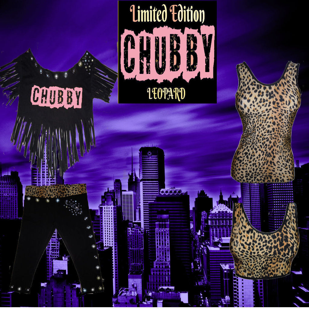 LIMITED EDITION SEXY CUSTOM CHUBBY 3 PICE SET SZ S-XL IN LEOPARD W/SEXY PINK BY LA KISS.COM - LA Kiss.com