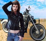 Leather Moto Jacket Biker Babe sizez xs-3x by LA Kiss.com