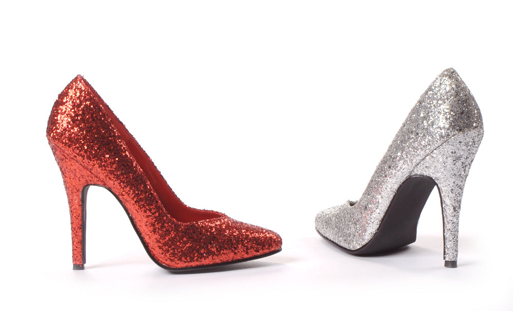 511-GLITTER Glitter 5 inch Stiletto heel pumps by LA Kiss.com