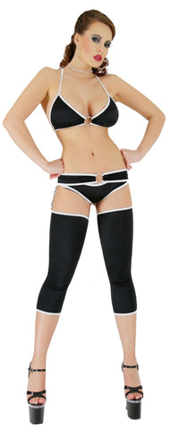 EXOTIC DANCER SEXY STRIPPER DECADENT 4 PIECE CAPRI CHAPS SET BY LA KISS.COM - LA Kiss.com - 1