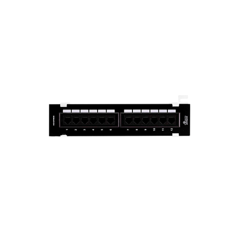 12-Port Vertical Cat5e Mini Patch Panel