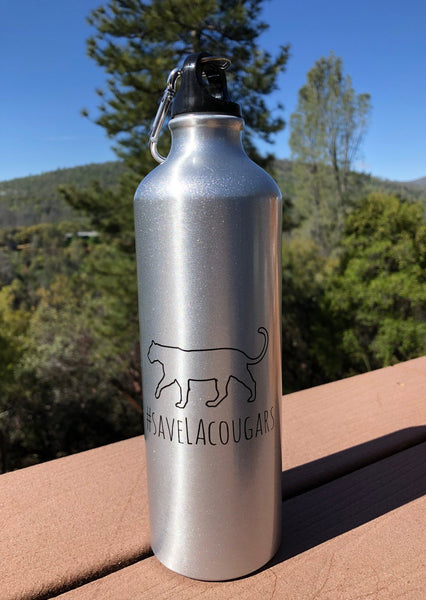 #SaveLACougars Stainless Steel Water Bottle 28 oz.