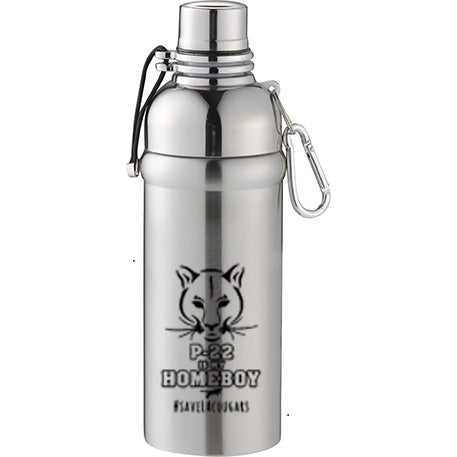 P-22 is My Homeboy Stainless Steel Carabiner Canteen Bottles (18 oz.)