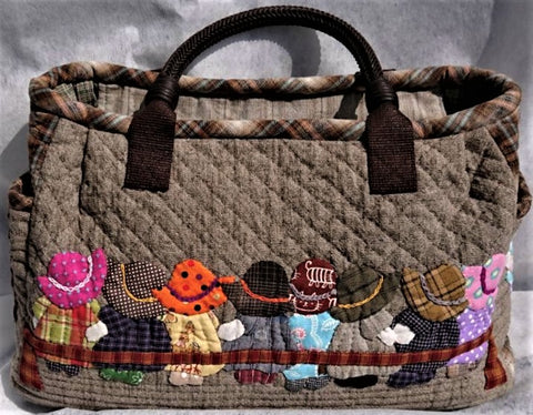 Handmade Quilted Gift Purse: Nursery Children, front