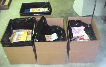 Recent orders (20lbs A Packages) before shipment