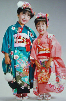 Girls Kimonos, vintage authentic girls ceremonial kimonos, 10 pounds