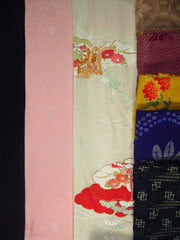 "10lbs ""A"" Package,ladies silk,silk blend Japanese vintage kimonos by pound,yokodana.com"
