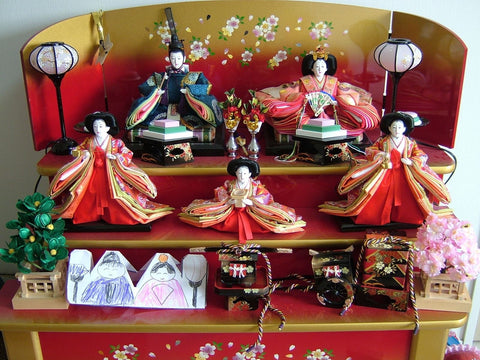 "Hinamatsuri (still called ""Girls Day"" in Yoko's village); niece added the paper hinadolls"